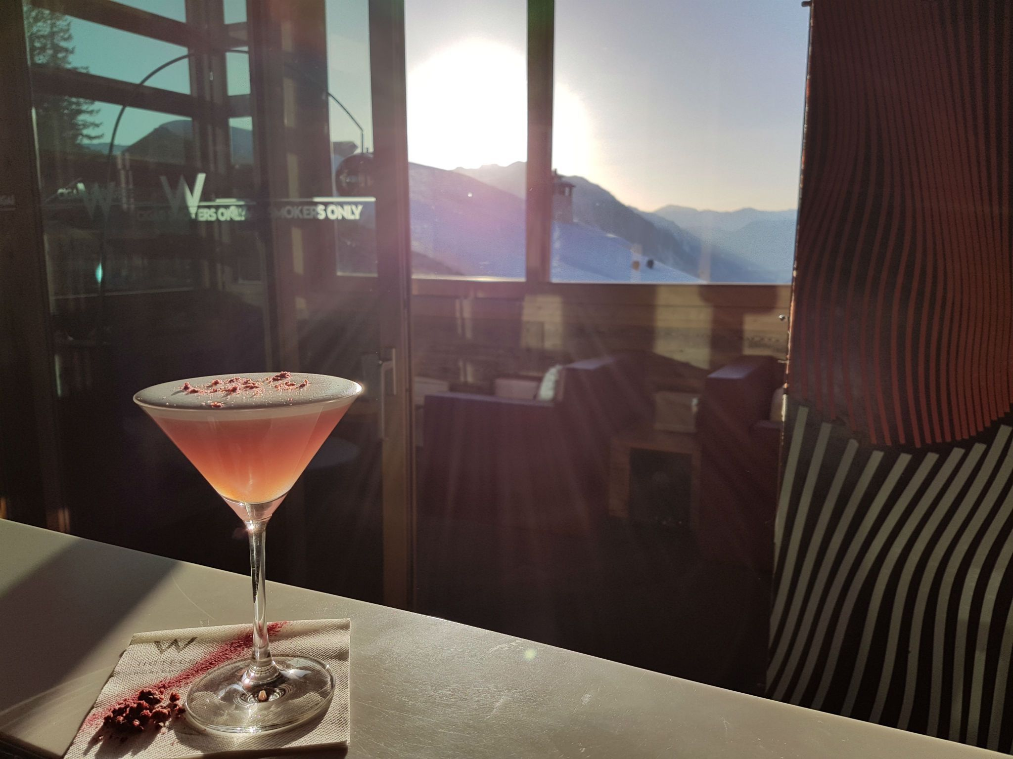 W Verbier Coctail with a view